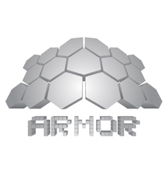 Armor icon vector