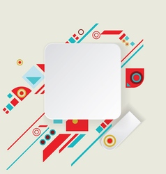 Modern aztec frame for material design vector