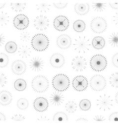 Set of Starbursts Symbols Seamless Pattern vector image