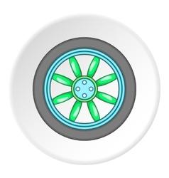 Car wheel icon cartoon style vector image