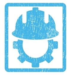 Development helmet icon rubber stamp vector
