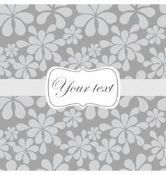 Cute vintage card invitation vector image