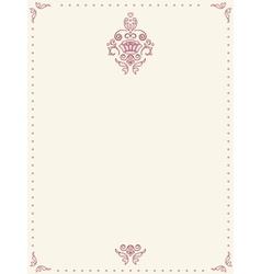 Retro paper sheet vector image