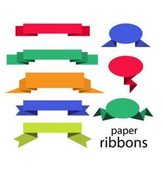 Paper ribbons vector