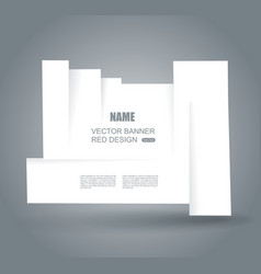 White cut banner with place for your text vector