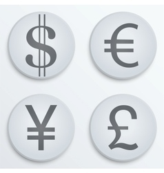 Business flat icons major currencies symbol vector