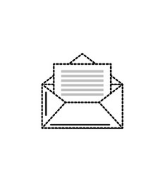 Dotted shape e-mail message to write and vector