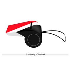 A whistle of the principality of sealand vector