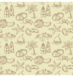 Sketchy summer pattern vector