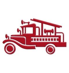 Fire truck car icon vector