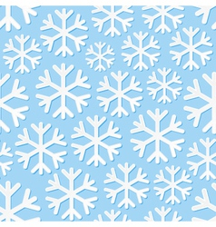 Seamless background with snowflakes vector