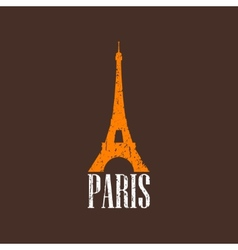 Vintage with eiffel tower vector