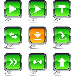 Arrows balloon icons vector