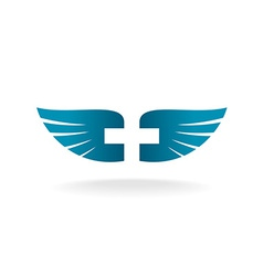 Wings and cross logo vector