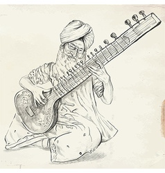 Tanpura player - converted vector