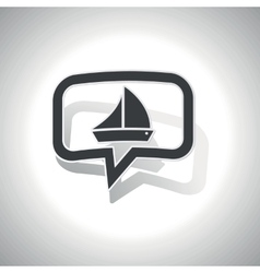 Curved sailing message icon vector