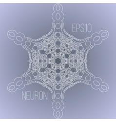 background with the image of a neuron vector image