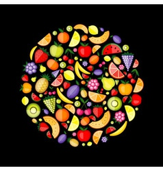 Fruits circle vector