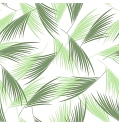 Tropical palm leaves seamless pattern  floral vector