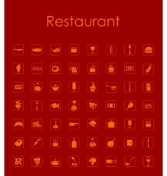 Set of restaurant simple icons vector
