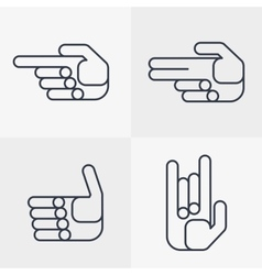 Set of hand icons with gestures vector