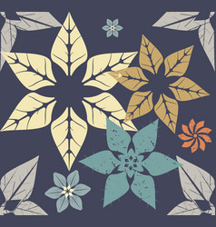 autumn pattern with modern flowers vector image vector image