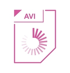 AVI file icon cartoon style vector image vector image