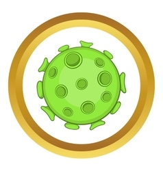 Bacteria or virus icon vector