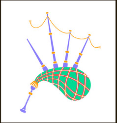 bagpipes icon vector image vector image