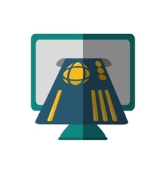 Bank online ecommerce icon vector