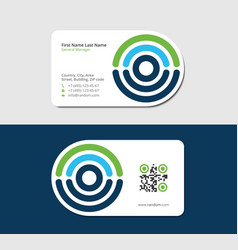 Business card for diagnostic center vector