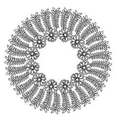 circular frame deoration floral vector image vector image