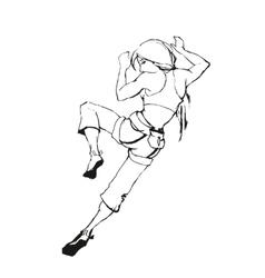 Climbing girl vector image vector image