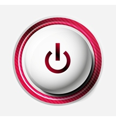 Color power button vector image vector image