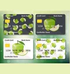 Credit card design vector