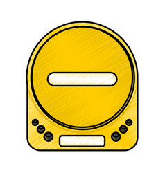 diskman music player icon vector image