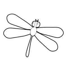 Dragonfly icon isometric 3d style vector