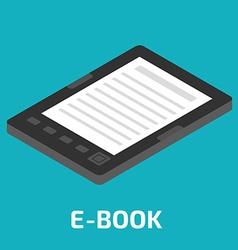 E-Book isometric vector image vector image