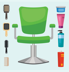 Fashion hairdresser with hair clipper and vector