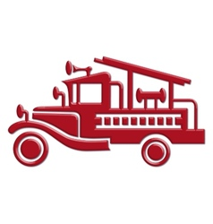 fire truck car icon vector image