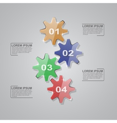 glass gears infographic vector image