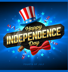 Happy independence day party poster template vector