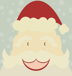 Happy santa claus with snow background vector