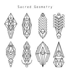 Linear sacred emblems vector