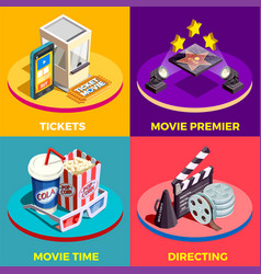 movie time design concept vector image