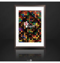 Photo Frame On The Wall vector image vector image