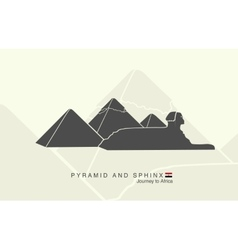Pyramids of giza and the sphinx vector