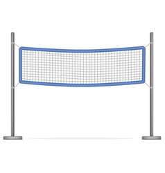 realistic detailed 3d volleyball net vector image vector image