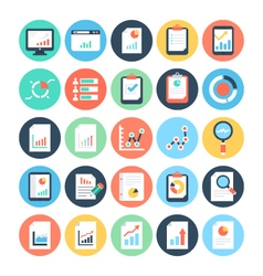 Reports and Analytics Colored Icons 1 vector image vector image