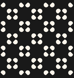 seamless circles pattern polka dot texture vector image vector image